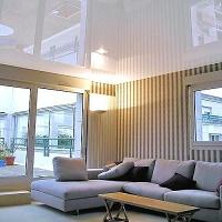 Как визуально увеличеть высоту потолка